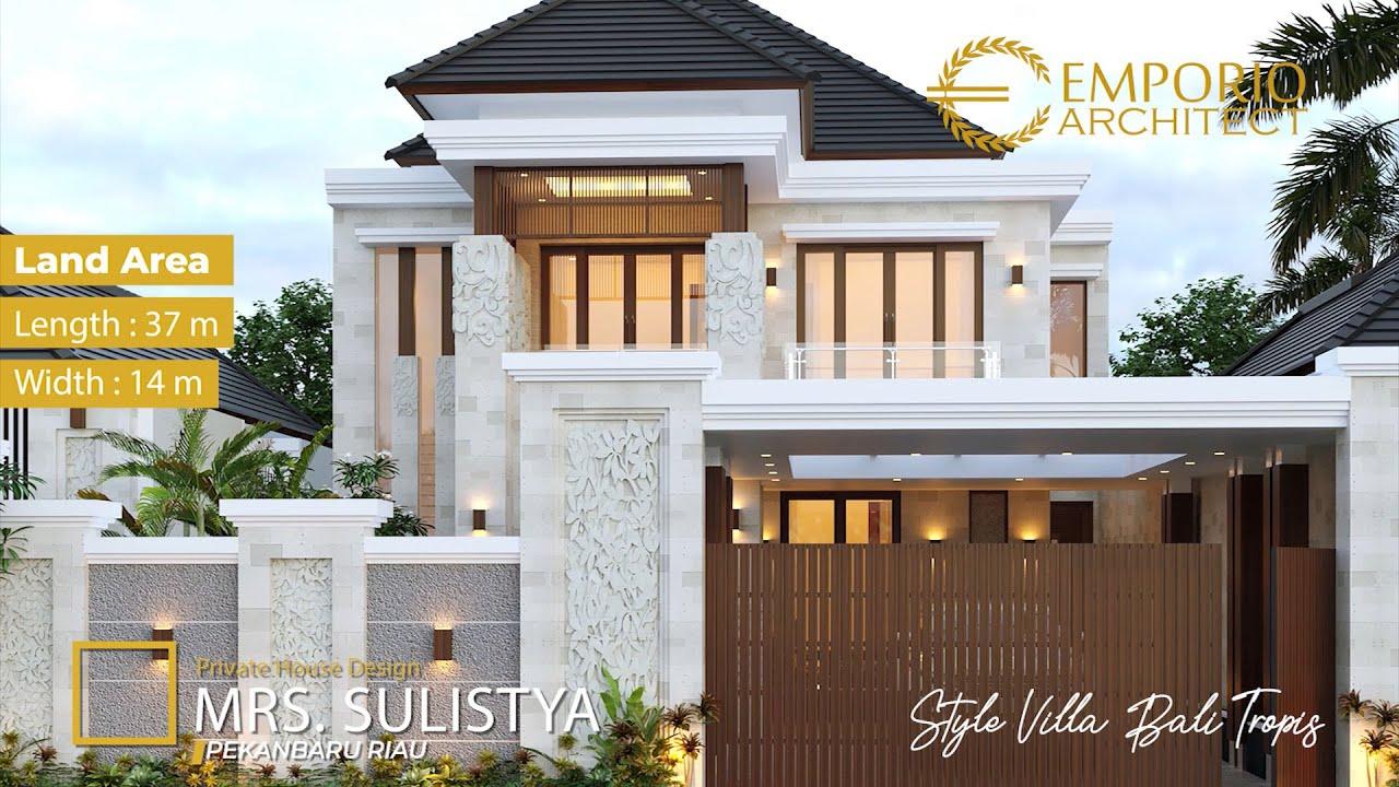 Video 3D Mrs. Sulistya Villa Bali House 2 Floors Design - Pekanbaru, Riau