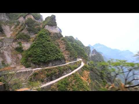 Bus Ride up Tianmen Mountains, Zhangjiajie China