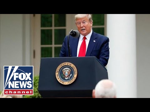 Live: Trump Holds News Conference in the Rose Garden!