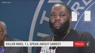 Speaking at a press conference on Friday night as protests turned destructive, the Atlanta natives, rappers and business men made a case for protecting Atlanta.