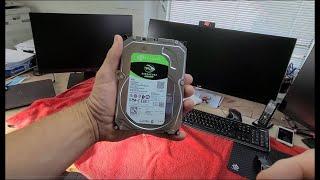Anleitung Festplatte in PC einbauen Seagate Barracuda 4TB SATA. Kompletter Mitschnitt
