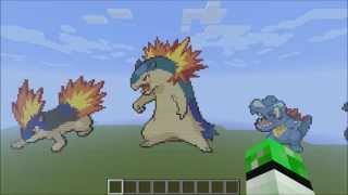 Minecraft Pokemon Pixel Art Johto 251 [+Download]