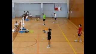 preview picture of video 'Bàdminton, dobles a Argentona, octubre 2012'