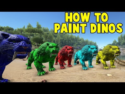 ark survival evolved how to paint dinos using online templates