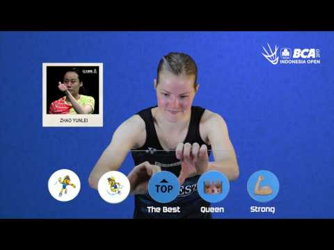 Christinna Pedersen - Emoji Players At BCA Indonesia Open 2017
