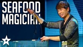 Seafood Magician Conjured Real Fish on Korea
