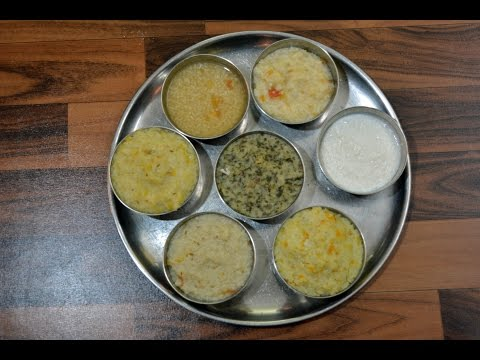 Video Baby Lunch Recipe 6 to 12 months | Indian baby Lunch| Lunch for baby | Baby food part - 3