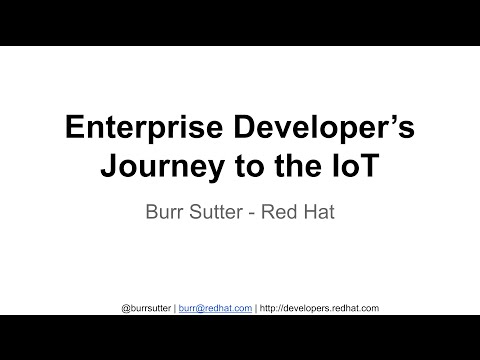 An Enterprise Developer's Journey to the IoT