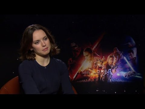 Daisy Ridley Reaction to Seeing Star Wars: The Force Awakens | Two Tube