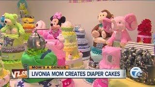 Moms A Genius, Livonia Mom Creates Diaper Cakes