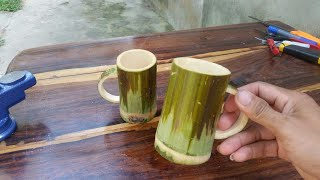 How to Make Lovely Cups From Bamboo