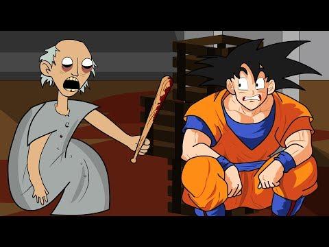 GRANNY THE HORROR GAME ANIMATION #11 : GOKU Vs Scary Granny (видео)