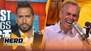 Nick Wright joins Colin to talk Dallas Cowboys, Aaron Rodgers and Luck's retirement | NFL | THE HERD
