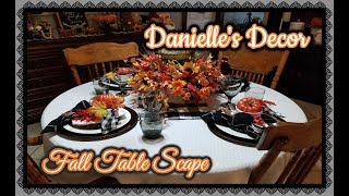 Easy Fall Table Setting 2018