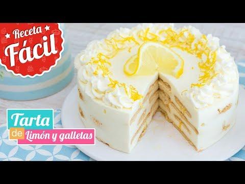 TARTA FRÍA DE LIMÓN Y GALLETAS | Postre sin horno | Quiero Cupcakes!
