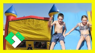 WATER SLIDE BOUNCE HOUSE BIRTHDAY PARTY (Day 1568)