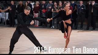 2018 WDSF European 10D | The Latin Final | DanceSportTotal