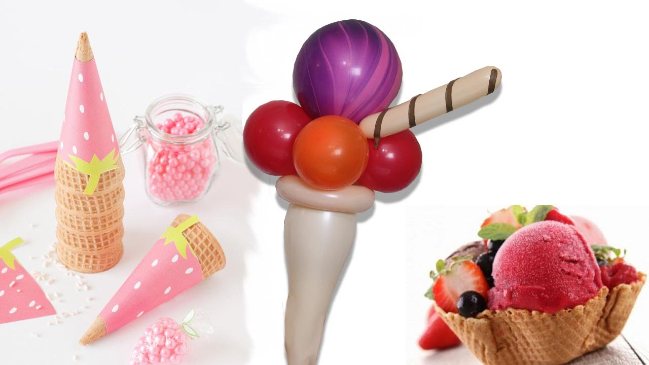 Curso de Globos Aprende hacer un helado en globos,  ice cream balloons crème glacée