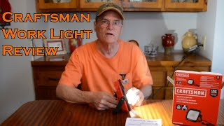 Craftsman Portable Work Light Review 1000 lumens 120VAC