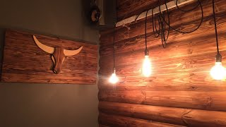 Символ года бык из дерева своими руками декор дома необычные  формы поделки из