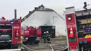 Wideo1: Pożar stolarni w Żakowie