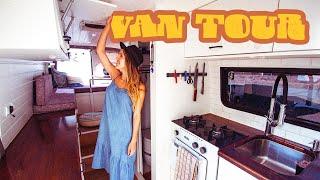VAN TOUR |  Luxury Camper Van With Full Bathroom, Oven, Deck, & More!