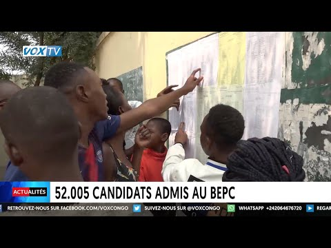 52005 candidats admis au BEPC 52005 candidats admis au BEPC