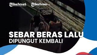 Viral Pria di Makassar Buang Beras di Jalan dan Dipungut Kembali, Diduga untuk Menarik Rasa Iba