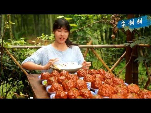 大胃王,山里最強女吃貨,徒步兩公里挑水種樹