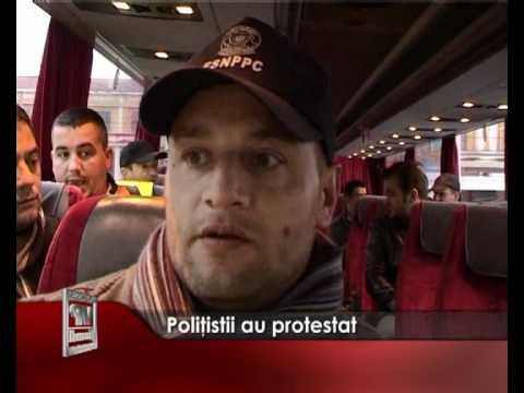 Politistii au protestat