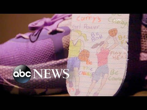 07326bdb06d7 9-year-old girl designs sneakers with Golden State Warriors  Steph Curry