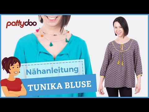 Anleitung Tunika/ Bluse nähen lernen - mit Abnäher, Knopfschlaufen und Paspelband