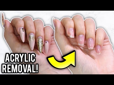 Remove Acrylic Nails At Home: Step By Step How-To Tutorial