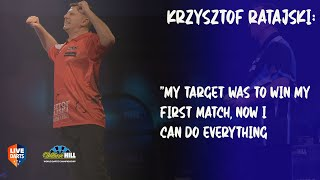 "Krzysztof Ratajski: ""My target was to win my first match, now I can do everything"""