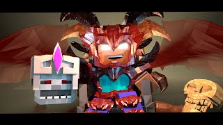 Supernatural Mobs: Skeleton King vs Herobrine! (Minecraft Animation)