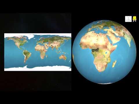 Finding places on Map and Globe /पृथ्वी के गोलेपर जगहों को ढूंढना