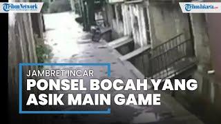 Jambret Gasak Handphone Bocah 9 Tahun yang Lagi Asik Main Free Fire di Beji Depok