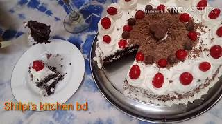 Black Forest Cake Recipe Without Oven॥How To Make Black Forest Cake