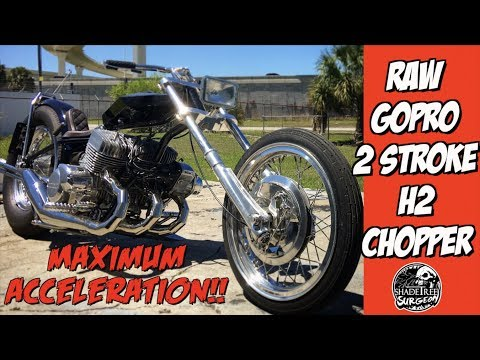 Kawasaki H2 chopper maximum acceleration RAW ONBOARD GOPRO