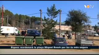 preview picture of video 'Bigues i Riells reordenarà la plaça Miquel Bosch per fer-la més segura'