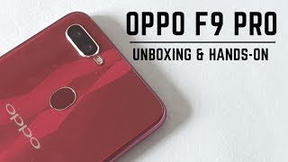 OPPO F9 Pro (Sunrise Red) - Unboxing and Hands-on (Hindi)