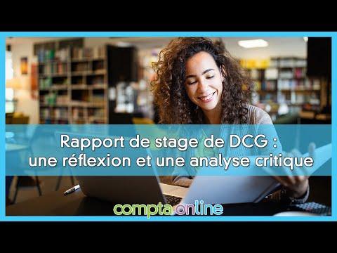 DCG UE13 : le rapport de stage