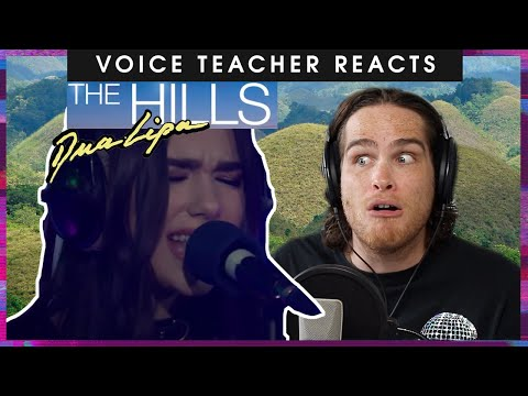 "Voice teacher reacts to Dua Lipa covering The Weeknd's ""The Hills"""