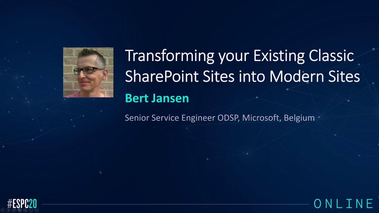 Transforming your Existing Classic SharePoint Sites into Modern Sites Webinar