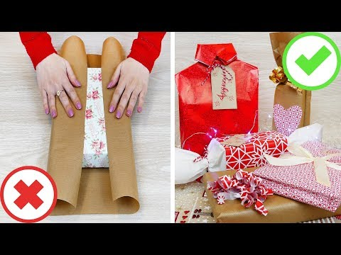 5 Idee per impacchettare i regali + 2 trucchi! 🎁 5 gift wrapping ideas + 2 life changing hacks