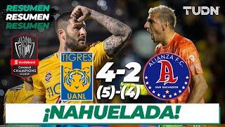 Resumen y Goles | Tigres 4 (5) - (4) 2 Alianza FC | CONCACAF Champions League - Vuelta | TUDN