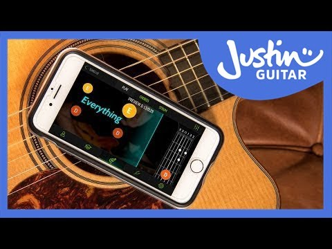 The Justin Guitar Beginner Song Course by FourChords for iOS & Android JustinGuitar Easy Guitar Song
