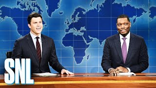 Weekend Update: Colin Jost and Michael Che Switch Jokes - SNL
