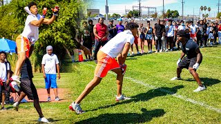 ANKLES WERE SNATCHED AND HEADS GOT TAPPED!! (INSANE 1ON1'S IN L.A. FOR $1000)