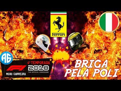 F1 2018 CARREIRA - CLASSIFICAÇÃO NA ITÁLIA - A BRIGA ENTRE AS FERRARI (Português-BR)